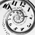 Abstract Clock To Infinity Stock Images - 22939624