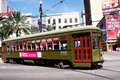 New Orleans St. Charles Street Car Along Canal St. Royalty Free Stock Images - 22966069