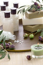 Olive Spa Set With Soap Stock Photos - 22966163
