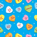 Sweet Hearts Pattern Royalty Free Stock Image - 22982286