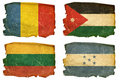 Set Flags Old  19 Stock Image - 22990341