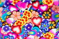 Background Gentle Flowers, Petals And Hearts Stock Photography - 22997032