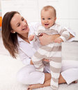 Beautiful Baby Girl Excited To Be Walking Stock Photos - 22997773