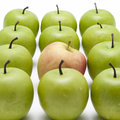 Green Apples With A Red One Royalty Free Stock Image - 2303276