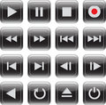Multimedia Control Glossy Icon Set Royalty Free Stock Photography - 23010137