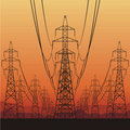 Electrical Power Lines Royalty Free Stock Images - 23013879