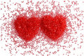 Two Red Hearts Stock Images - 23016504