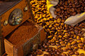 Of Coffee. Coffee Beans And Coffee Grinder Stock Photo - 23034910
