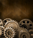 Cogs Gears Brown Background Royalty Free Stock Photo - 23037525