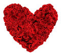 Heart Shaped Bouquet Of Roses Stock Photo - 23061430