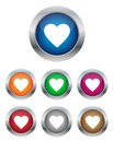 Heart Buttons Royalty Free Stock Photo - 23063985