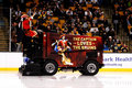 Captain Morgan Takes A Ride On A Zamboni Royalty Free Stock Image - 23067076