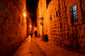 Dark Alley In The Old City In Jerusalem Royalty Free Stock Photo - 23087415