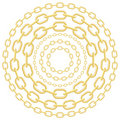 Gold Circle Chains Stock Image - 23091721