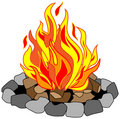 Roaring Campfire Stock Photography - 23094012
