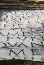 Appian Way (Appia Antica) Tombstone Inscription Royalty Free Stock Images - 23096209