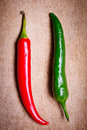 Red And Green Chili Peppers Stock Photography - 23096902