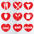 Love Food Icons Royalty Free Stock Images - 23098979