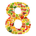 Alphabet Made Of  Fruits And Vegetables Stock Photo - 23111550