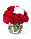 Close-up Red Rose With A Greeting Card Royalty Free Stock Images - 23114029