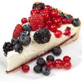Piece Of A Pie With Fresh Berries Royalty Free Stock Photos - 23114088