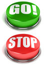 Go Stop Buttons Royalty Free Stock Image - 23116946