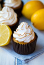 Lemon Meringue Cupcakes Royalty Free Stock Photography - 23155277