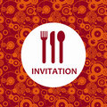 Dinner Invitation Royalty Free Stock Photography - 23158767