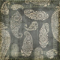 Antique Grungy Vintage Paisley Indian Background Stock Photography - 23162852