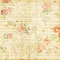 Shabby Chic Vintage Rose Floral Grungy Background Royalty Free Stock Images - 23163039