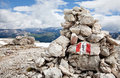 Cairn Hiking Trail Stock Image - 23165071
