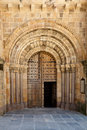Open Old Church Door With Stone Arches And Columns Stock Photo - 23175690