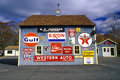 Signs On Side Of Gas And Service Station Stock Photos - 23180163