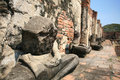 Ruined Buddha Statue Without Head Meditated Stock Photos - 23181773