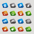 Cut Squares - Food Icons Royalty Free Stock Photo - 23192405