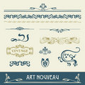 Set Vectors Art Nouveau Stock Photography - 23198402