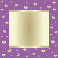 Purple Background With Big Banner Royalty Free Stock Images - 23198659