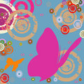 Butterflies And Circles Royalty Free Stock Photos - 2323858