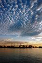 Seaport And Sky At Sunset Stock Image - 2324151