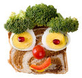 Smiling Food Face Stock Photo - 2328740