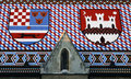 Tiled Roof Coat Of Arms Stock Photos - 2329743