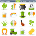 St. Patrick Icons - Robico Series Stock Photography - 23205632