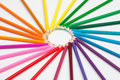 Set Of Color Pencils In Shape Of Sun Royalty Free Stock Images - 23211999
