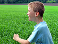 Boy In The Field Royalty Free Stock Images - 23220049
