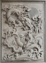 Chinese Dragon Granite Stone Carving Royalty Free Stock Photos - 23230938