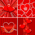 Valentine Heart Pattern And Background Royalty Free Stock Photo - 23250535