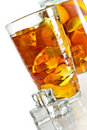 Ice Tea In Glass With Cubes Stock Images - 23286594