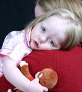 Cute Little Girl Laying Head Stock Photo - 2333580