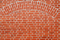 Red Brick Wall With Arch Royalty Free Stock Photos - 2335868