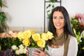 Female Florist In Flower Shop Stock Photos - 23331803